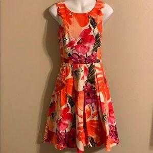 Eliza J floral sleeveless dress size 8